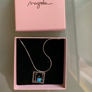 Magnolia Silver Jewelry Opal Necklace